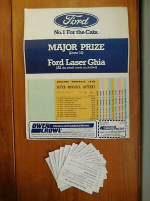 1984 Geelong Football Club AFL VFL Super Bonanza Lottery Pack Tickets