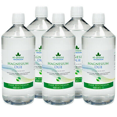 Magnesium olie oil | For Magnesium Oil Spray | 5x1000 ml navulfles Refill