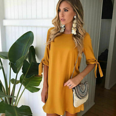 Party Dress Casual Blouse Tops Womens Sexy Long Plus Size T-shirt Mini Ladies