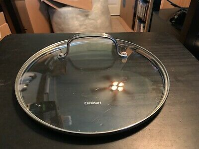 """Cuisinart Glass Replacement Lid 10 3/4"""" OD 10"""" ID"""