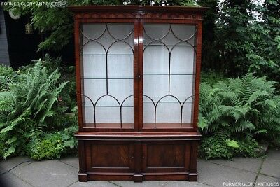 A Large Mahogany China Glass Display Cabinet Living Room Sideboard Dresser Stand