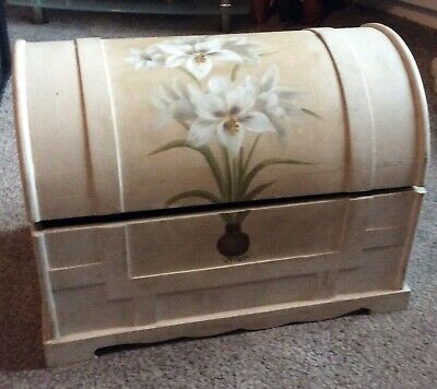 Large Wooden Decorative Chest. 14 X 11 X 11 Inches. Lid Not Flush
