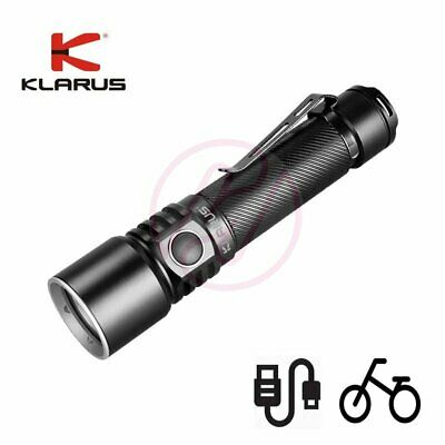 Klarus ST15R Cree LED 1200lm USB Rechargeable LED Flashlight+Bike Mount+Diffuser