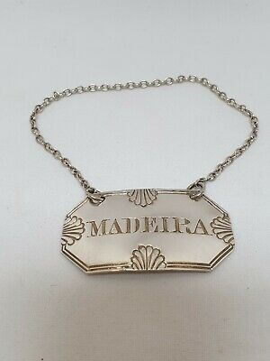 William Knight Sterling Silver Madeira Decanter Label London 1828 Antique Solid
