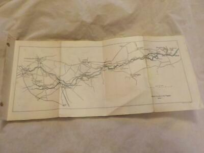 Set Of 8 Vintage Strip Maps Of The River Thames From Salter's Guide To Thames