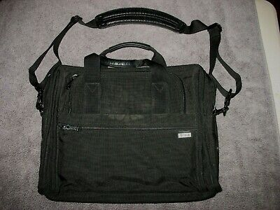 Tumi - Canvas Computer Laptop Travel Messenger Bag Luggage With Shoulder Strap