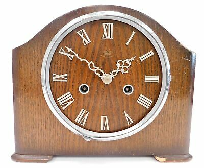 Vintage SMITHS ENFIELD Wooden Wind Up Chiming MANTEL CLOCK Spares/Repairs - SA8
