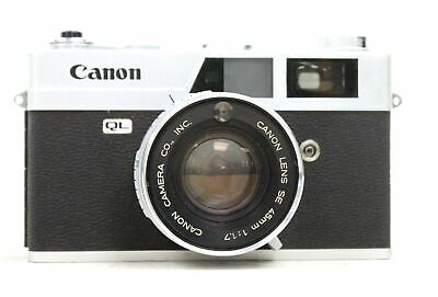 CANON CANONET QL17 Rangefinder Camera With Canon 45mm f/1.7 Lens- UNTESTED - G23