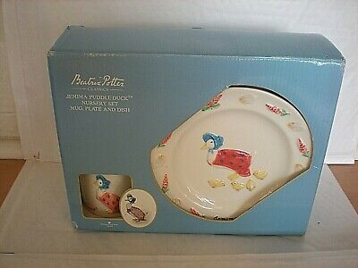 New (Other) Beatrix Potter Jemima Puddleduck Nursery Set Mug, Plate & Dish