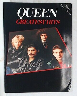 QUEEN GREATEST HITS Piano / Vocal / Guitar Songbook FABER MUSIC Paperback - C23