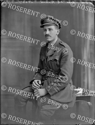 1918 the Royal Army Medical Corps - Capt  D O Kinney - glass negative 22 by 16cm