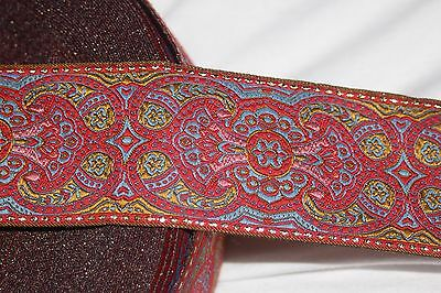 """By The Yard Jacquard Trim 02/"""" wide Woven Border Sew Ribbon T722"""