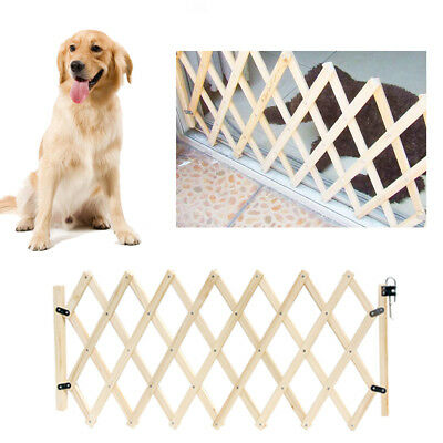 Folding Baby Gate Safety Fence Child Protection Wood Door CatDog Pet Barrier