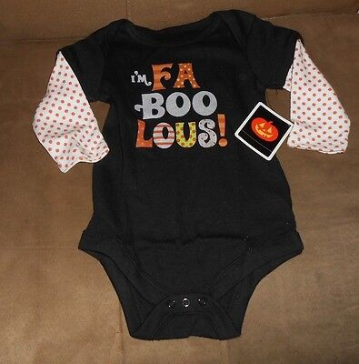 I'm FaBooLous Halloween Creeper  Size 3 to 6 months  Brand New with Tag