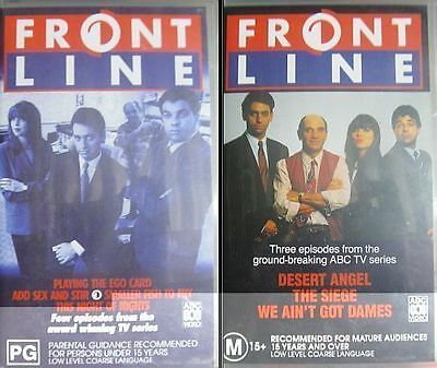 FRONTLINE Australian Humour Comedy Series VHS 2 Video Movie Cassettes 7 Episodes