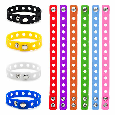 10x Lot Kids Silicone Wristband for Charms Jibbitz Rubber Bracelet Pack