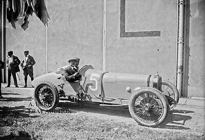 Talbot-Darracq racing car Rene Thomas 1921 French Grand Prix racing photo photo