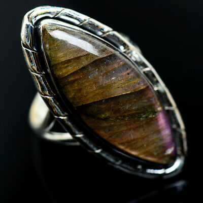 Large Labradorite 925 Sterling Silver Ring Size 9 Ana Co Jewelry R962609F