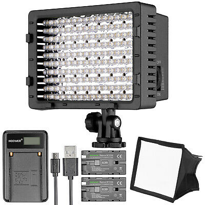 Neewer CN-160 Dimmable LED Digital Camera Video Lighting Kit with Battery