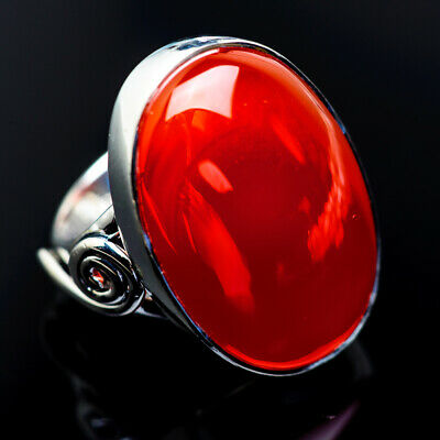 Large Carnelian 925 Sterling Silver Ring Size 7.5 Ana Co Jewelry R962846F