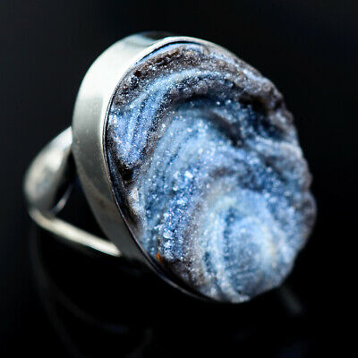 Large Desert Druzy 925 Sterling Silver Ring Size 8.5 Ana Co Jewelry R962870F