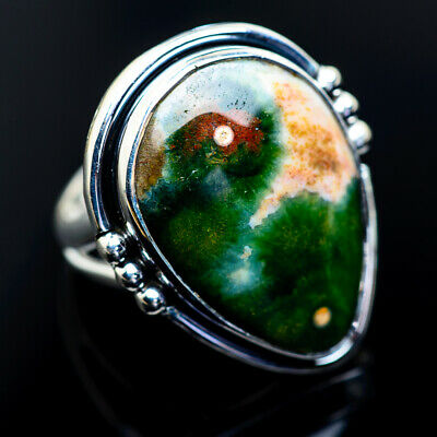 Large Ocean Jasper 925 Sterling Silver Ring Size 7.25 Ana Co Jewelry R962995F