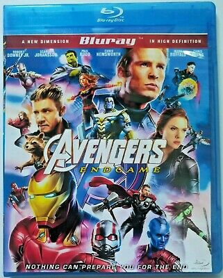 Avengers- End Game  Bluray (Region Code Not Required)