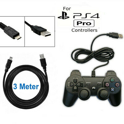 3m 10ft Play Charging Charger USB Cable For PlayStation PS4 Controller GamePad