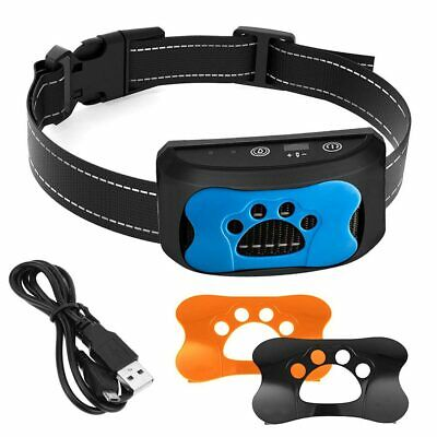 Adjustable Rechargeable Anti Bark No Bark Collar Stop For Small Medium Large Dog