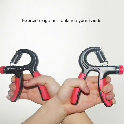 Adjustable Hand Grip Strengthener Strength Trainer Exerciser Resistance 10-60KG
