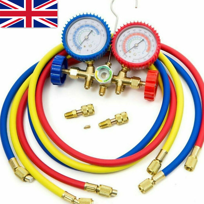 R410A R22 R404A HVAC A/C Refrigeration Charging Service Manifold Gauge Set UK