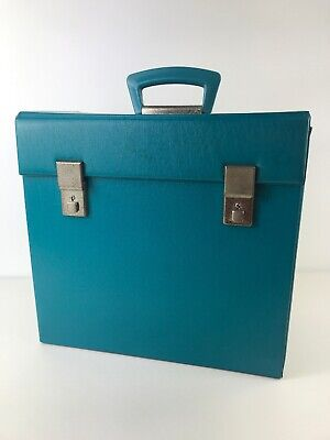 Selecta Retro Turquoise Vinyl Record LP 12 Inch Carrier Handled Storage Box