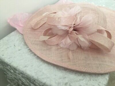 **Phase Eight Wedding Races Pale Pink Rose Fascinator**