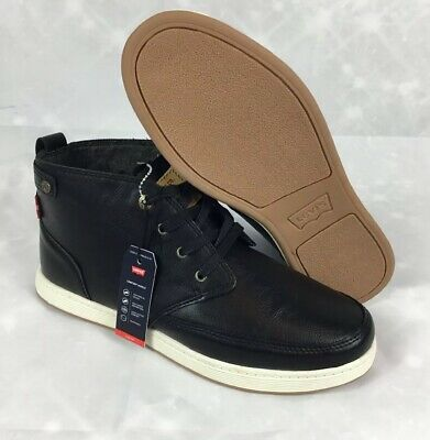 the latest special sales entire collection MENS LEVI'S ATWATER Burnish Chukka Sneaker Boot Black Leather Size ...