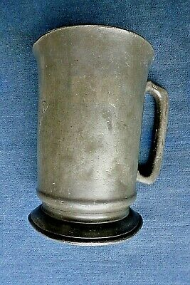 Very Good Antique Late Victorian Pewter Quart Tankard