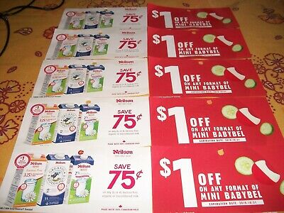 Coupons Canada- 5 X  Neilson Milk .75 Off + 5 X Mini Babybel Cheese 1.00$ Off