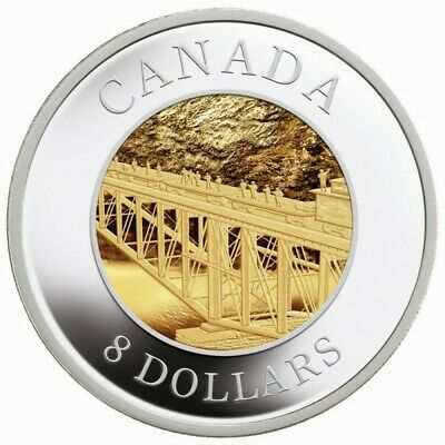 Pacific Railway, 120th Anniversary - 2005 Canada $8 Fine Silver 2-Coin Set