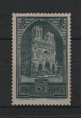 "FRANCE STAMP TIMBRE N° 259 b "" CATHEDRALE REIMS 3F TYPE III "" NEUF xx TTB V008"