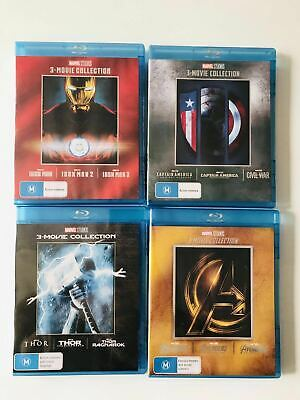 THOR Avengers Iron Man Captain America 3-Movie Collection 1-3 Blu-ray Complete