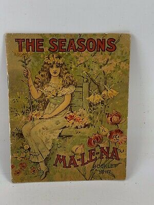 Antique/Vintage The Seasons MA-LE-NA Stomach-Liver Pills Advertising Booklet 117