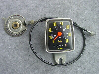 VDO Trio 70 Tachometer ca.1980 28 Inches Very Well Preserved only km 2854 From
