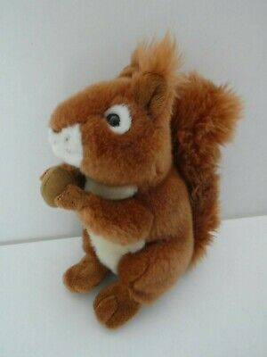"""9""""  ARK TOYS PREMIER COLLECTION RED SQUIRREL & nut PLUSH SOFT TOY FIGURE"""
