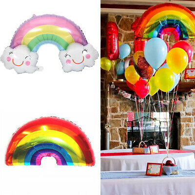 Rainbow Balloons Smile Cloud Birthday Party Wedding Decor Aluminum Foil Balloon