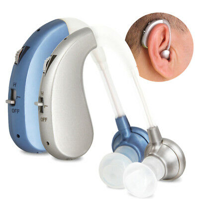 Rechargeable Digital Hearing Aid Severe Loss BTE Ear Aids High Podwer Gift~YLW