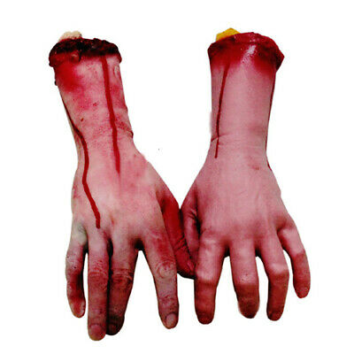 Halloween Bloody Horror Scary Prop Fake Severed Lifesize Arm Hand House Decor US