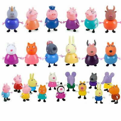 AU stock Kids Toys Peppa Pig Family&Friends Emily Rebecca Suzy Action Figures