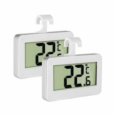 lot de 2 Thermomètres Numérique LCD crochet de Suspension et Support Thermomètre