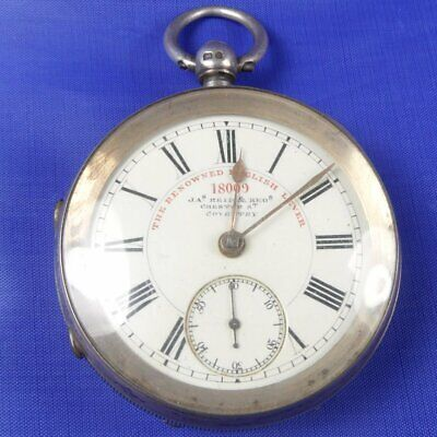 (A3) Antique Silver Renowned English Lever Front Loading Fusee Pocket Watch