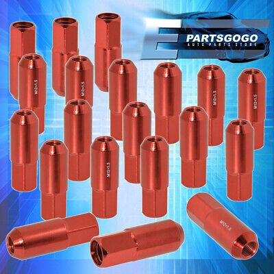 For Buick Saturn 20 Pcs 60mm M12 1.50 Red Extend Lug Nut Heavy Duty Steel Open