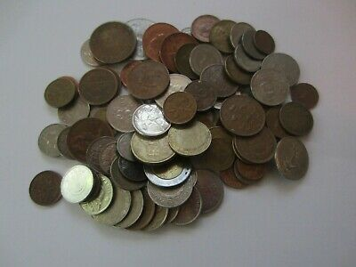 100 MIXED WORLDWIDE COINS - CIrculated